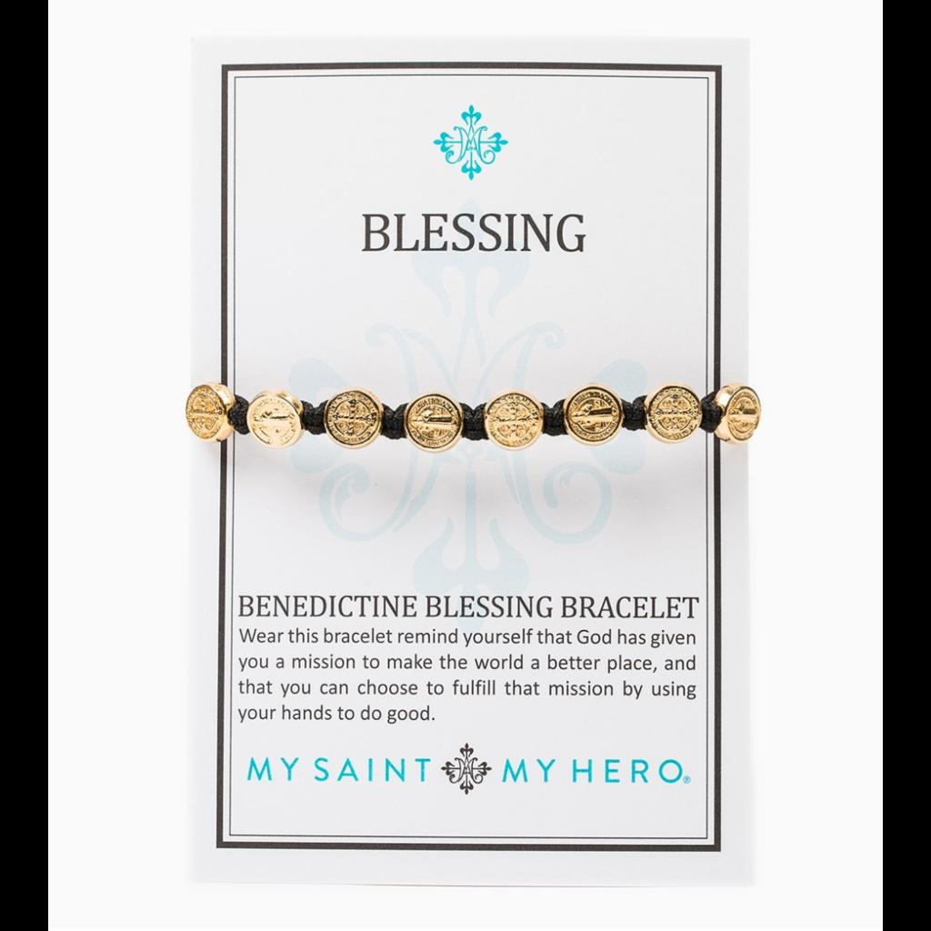 My Saint My Hero My Saint My Hero - Benedictine Blessing Bracelet - Gold/Peach