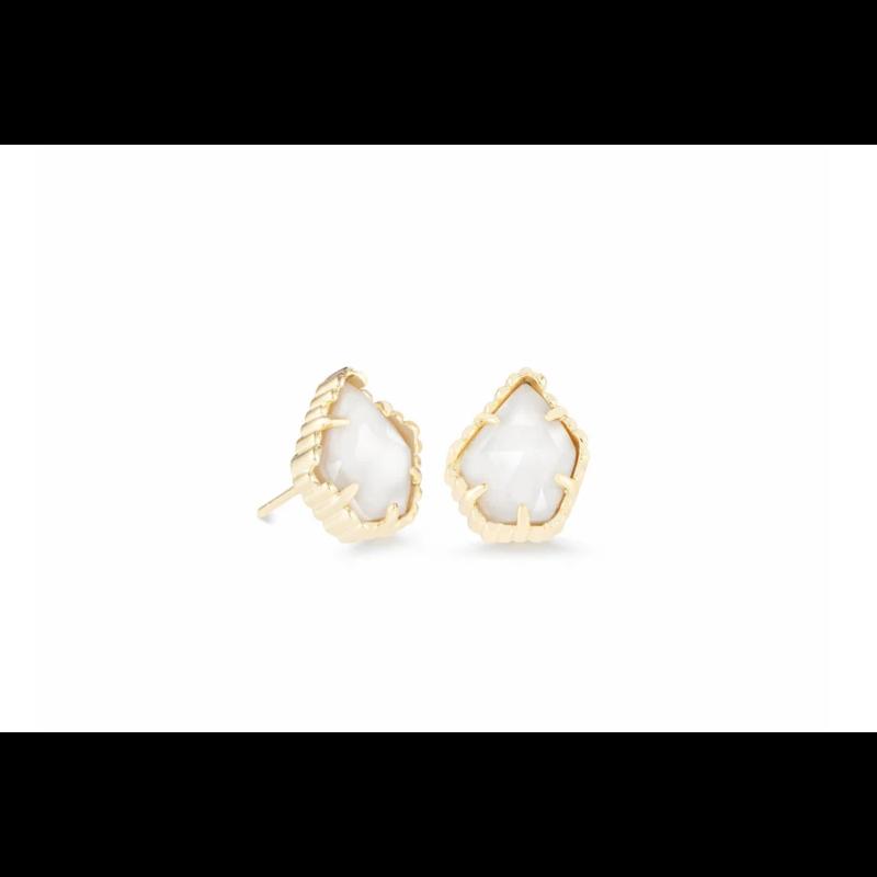 Kendra Scott Tessa Sm Stud Earring - Gold/White Mussel