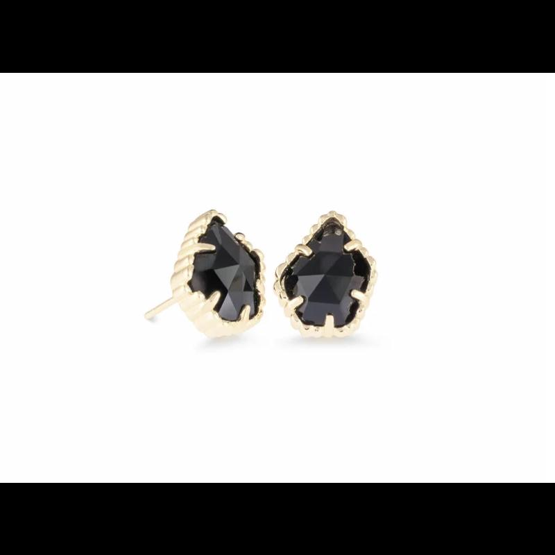 Kendra Scott Tessa Sm Stud Earring - Gold/Black Obsidian