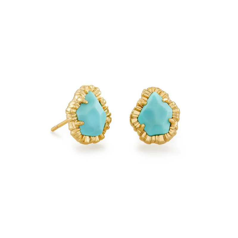 Kendra Scott Tessa SM Stud Earring - Gold/Lt Blue Magnesite