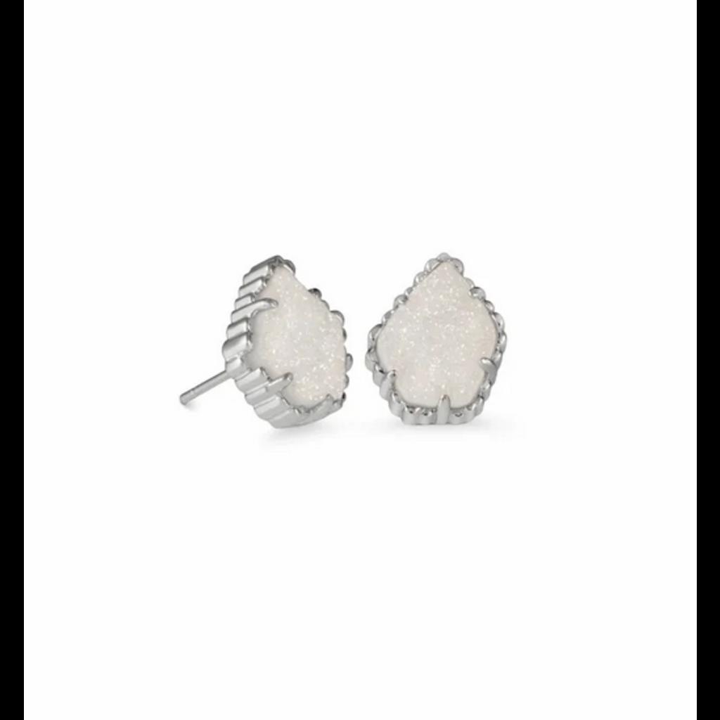 Kendra Scott Tessa Sm Stud Earring - Silver/Iridescent Abalone