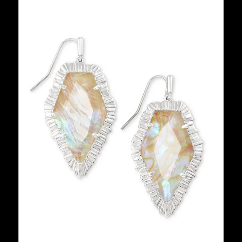Kendra Scott Tessa Drop Earring - Silver/Iridescent Abalone