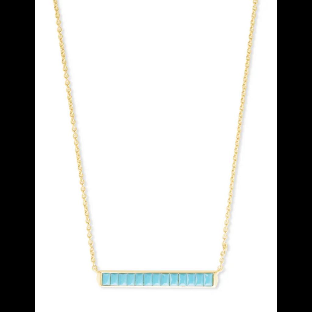 Kendra Scott Jack Pendant Necklace - Gold/Turquoise Crystal