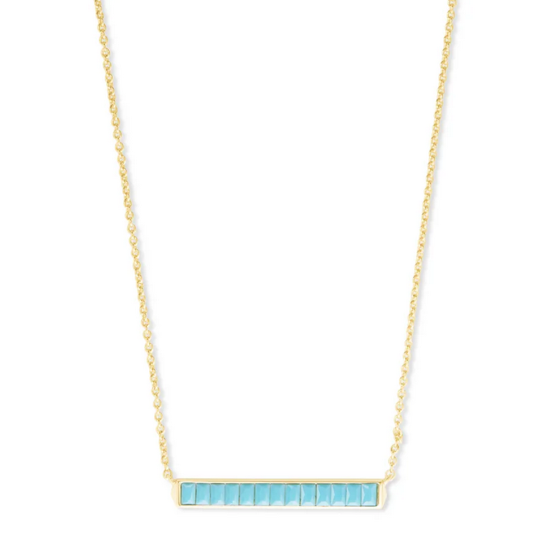 Kendra Scott Jack Pendant Necklace - Gold/Turquoise Crystal