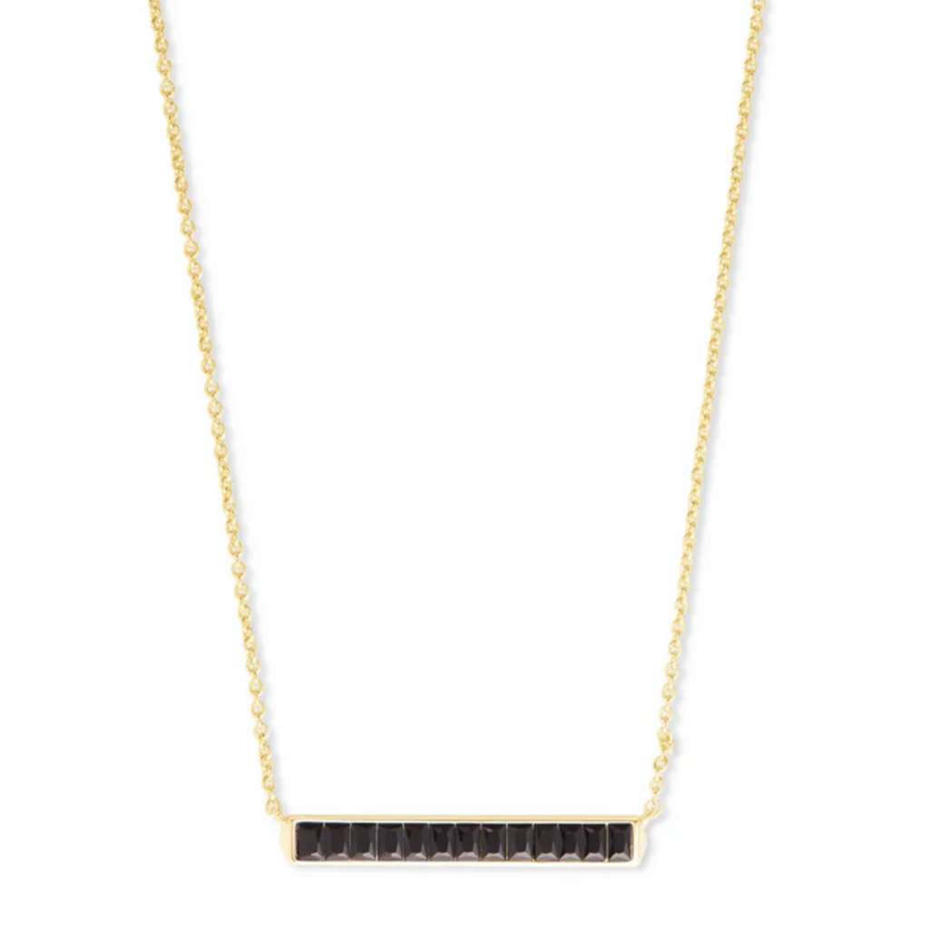 Kendra Scott Jack Pendant Necklace - Gold/Black