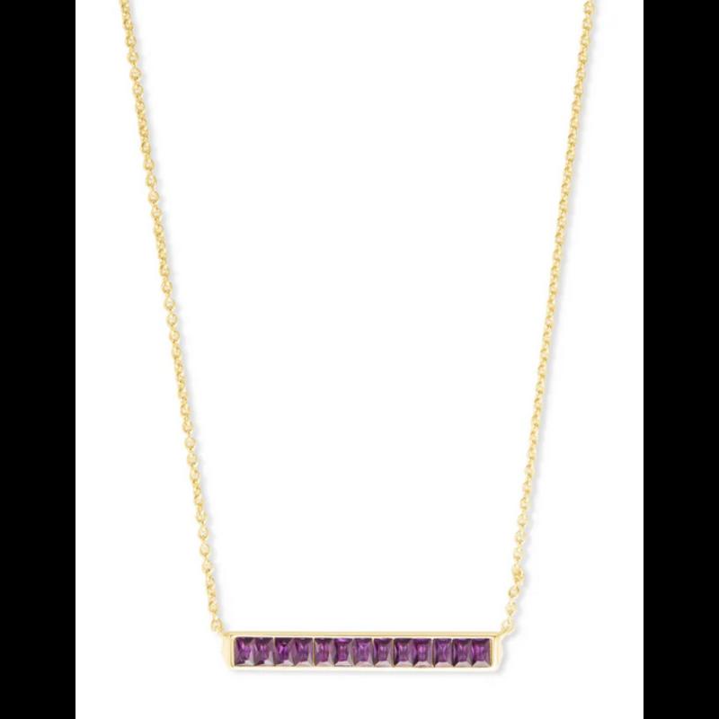 Kendra Scott Jack Pendant Necklace - Gold/Purple Crystal