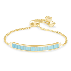 Kendra Scott Jack Delicate Chain Bracelet - Gold/Turquoise Crystal