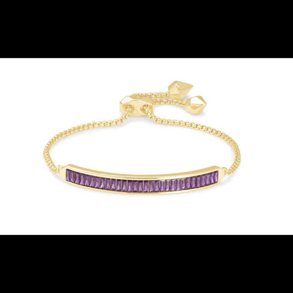 Kendra Scott Jack Delicate Chain Bracelet - Gold/Purple Crystal