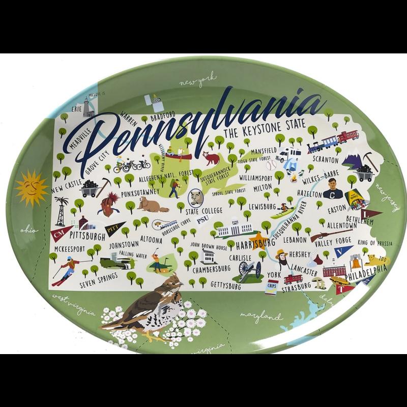 "Galleyware Galleyware 16"" Platter - Pennsylvania"