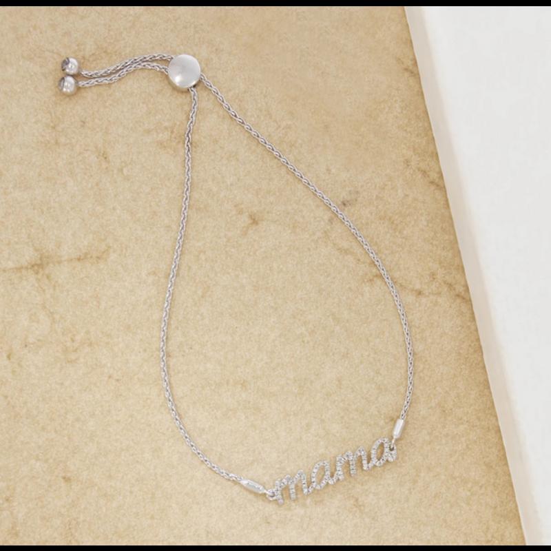 Ella Stein Love You Mama Bracelet .14 Diamond Weight - Silver