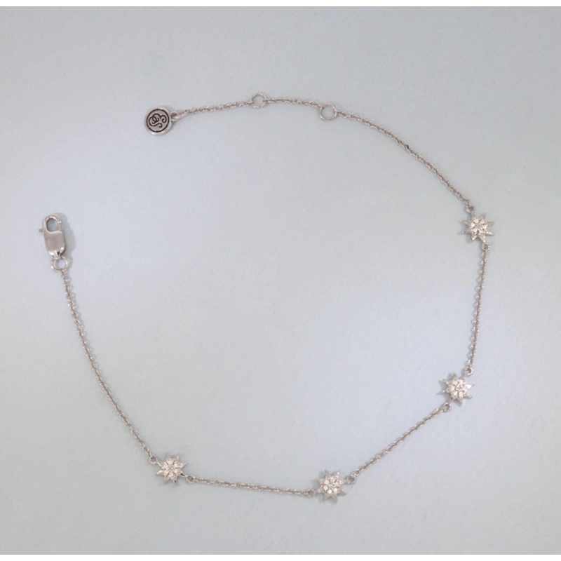 Ella Stein You Are My Sunshine Bracelet .06 Diamond Weight - Silver