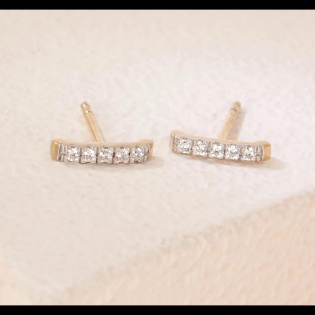 Ella Stein Ella Stein Ama Studs .10 Diamond Weight - Gold