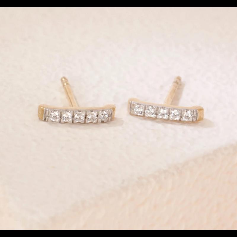 Ella Stein Ama Studs .10 Diamond Weight - Gold