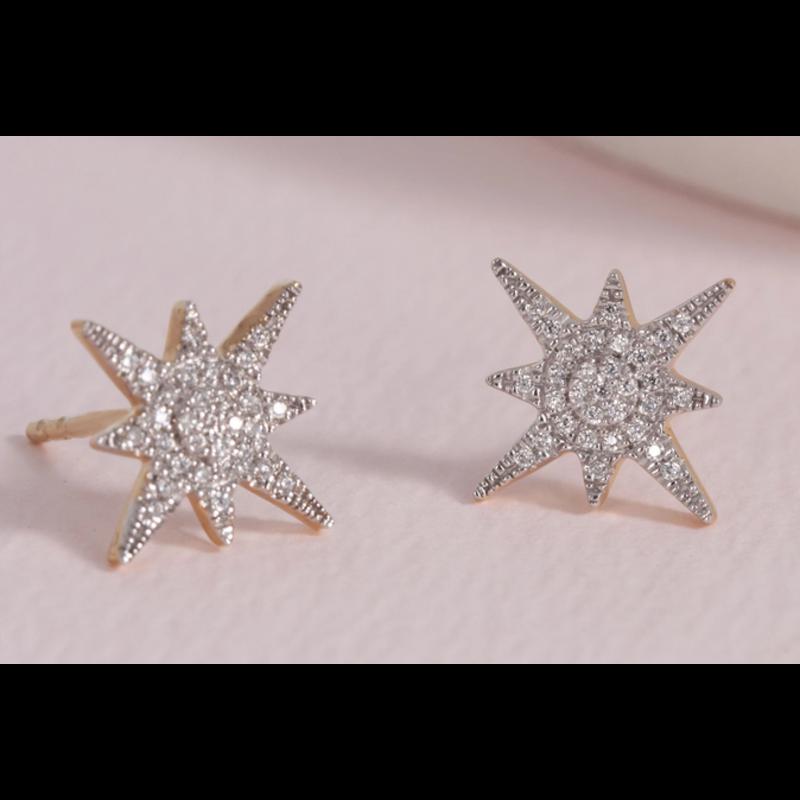 Ella Stein Stargazer Earrings .11 Diamond Weight - Gold