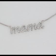 Ella Stein Ella Stein Love You Mama Necklace .017 Diamond Weight - Silver