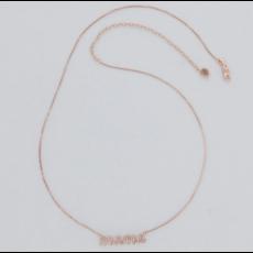 Ella Stein Ella Stein Love You Mama Necklace .017 Diamond Weight - Gold