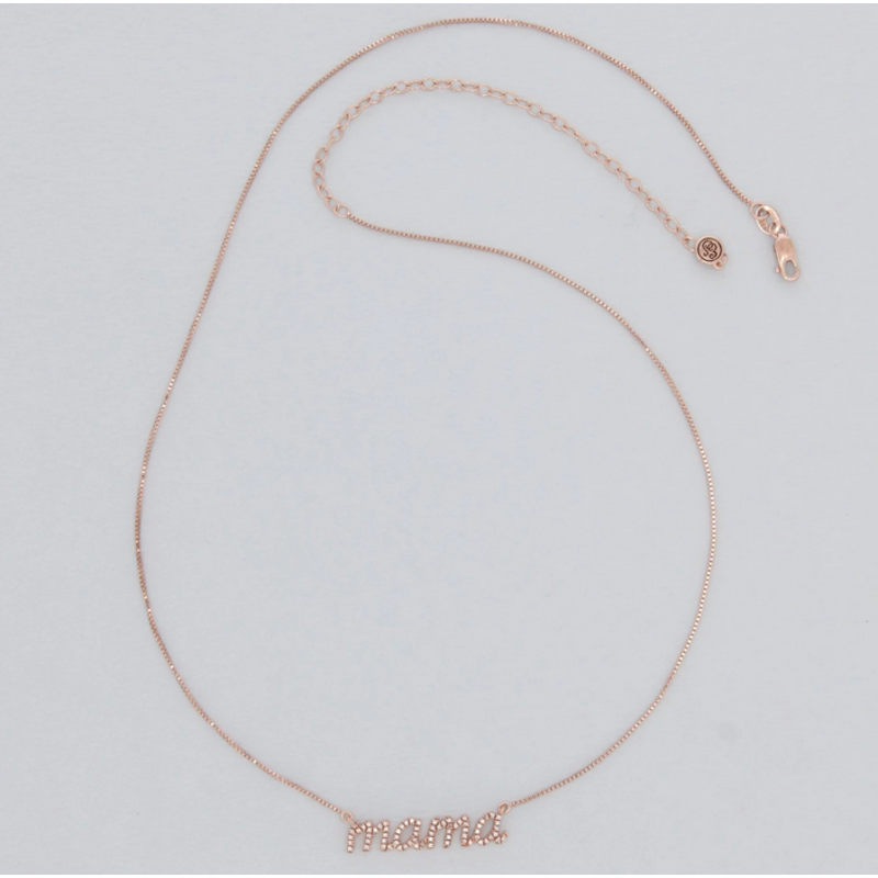 Ella Stein Love You Mama Necklace .017 Diamond Weight - Gold
