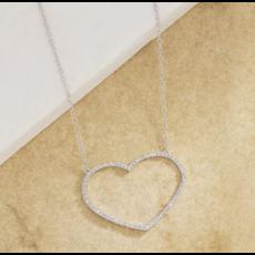 Ella Stein Ella Stein True Love Always Necklace .05 Ct. Diamond Weight - Silver