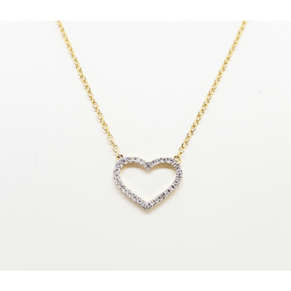 Ella Stein Ella Stein True Love Always Necklace .05 Ct. Diamond Weight - Gold