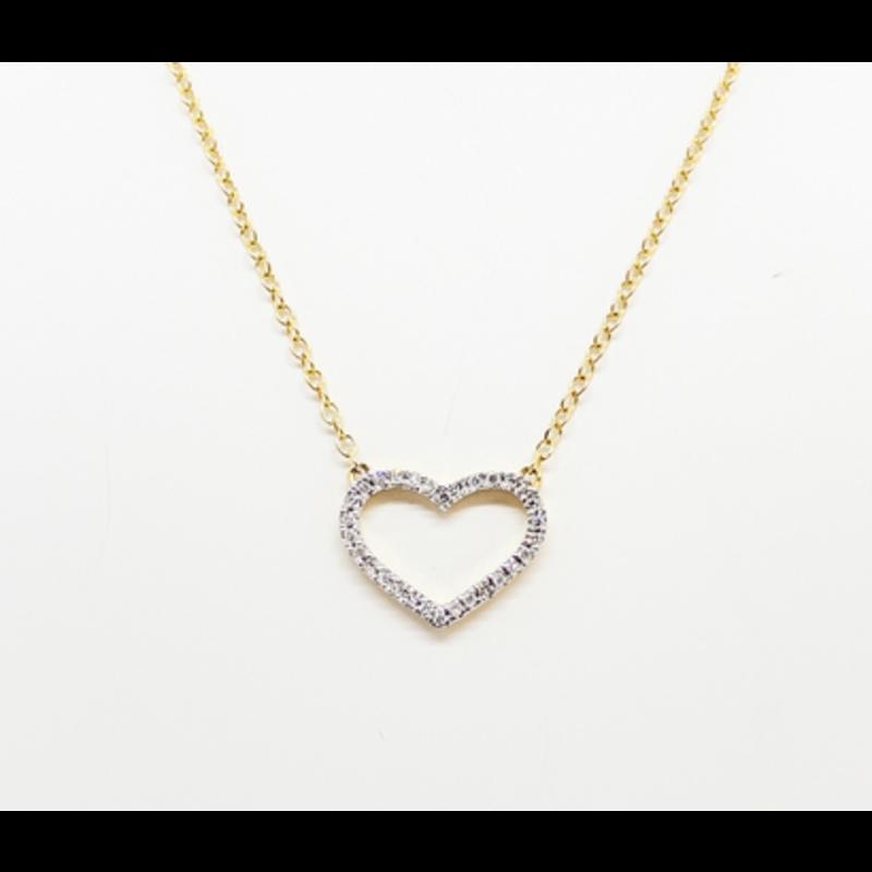 Ella Stein True Love Always Necklace .05 Ct. Diamond Weight - Gold