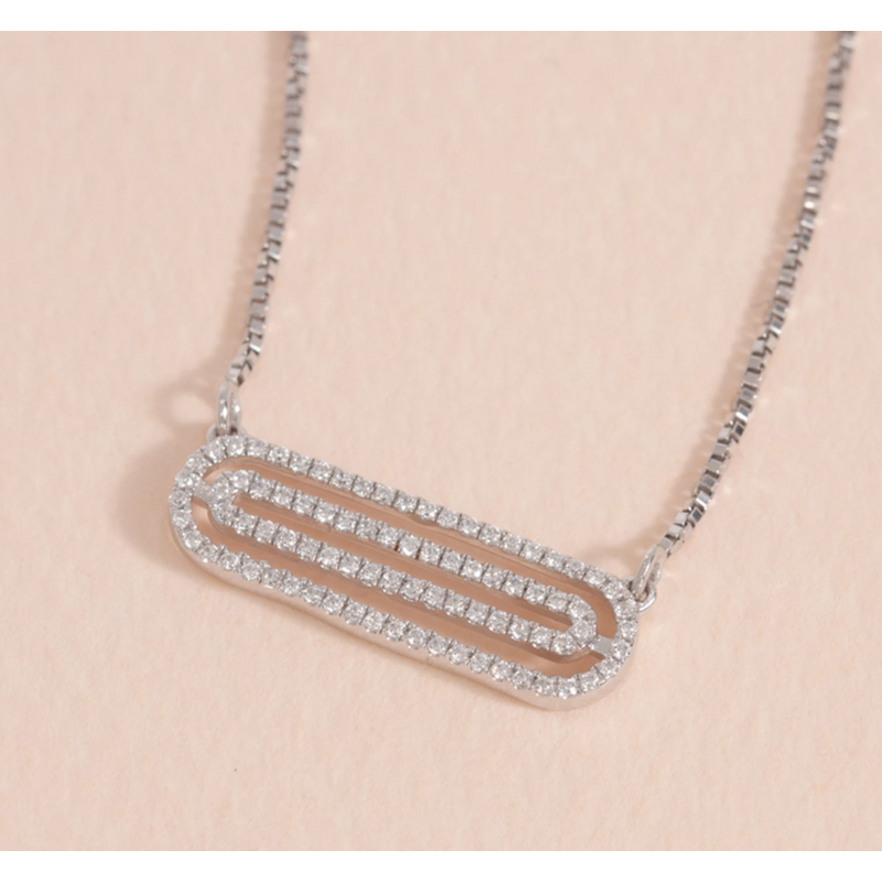 Ella Stein Well Coiled Necklace .12 Ct. Diamond Weight - Silver