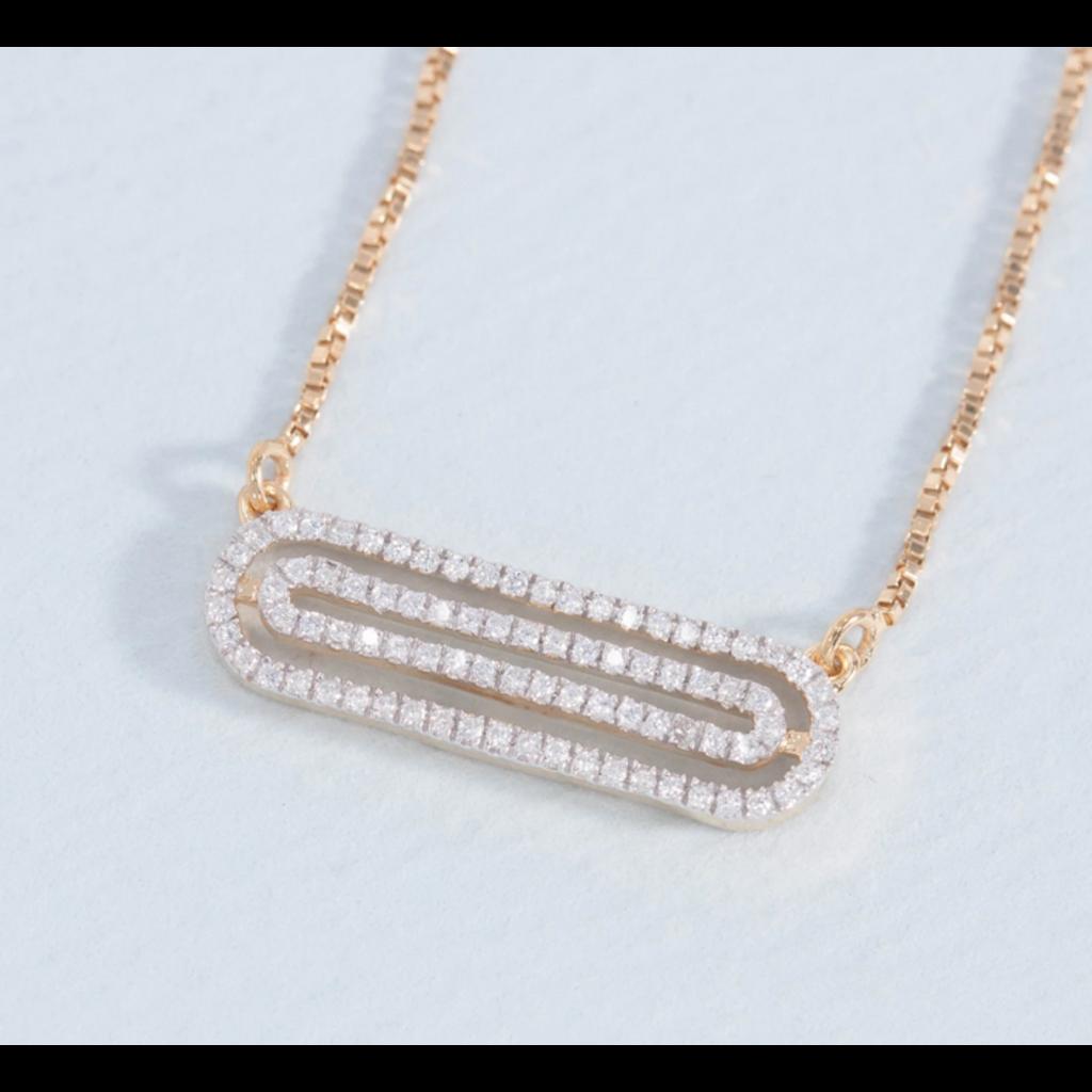 Ella Stein Ella Stein Well Coiled Necklace .12 Ct. Diamond Weight - Gold