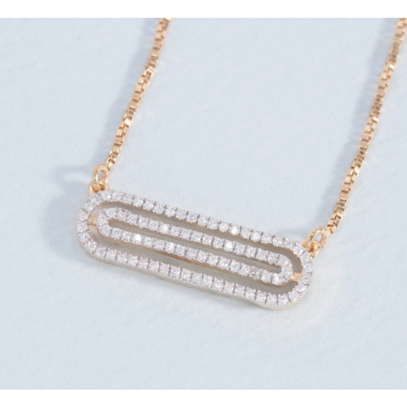 Ella Stein Well Coiled Necklace .12 Ct. Diamond Weight - Gold