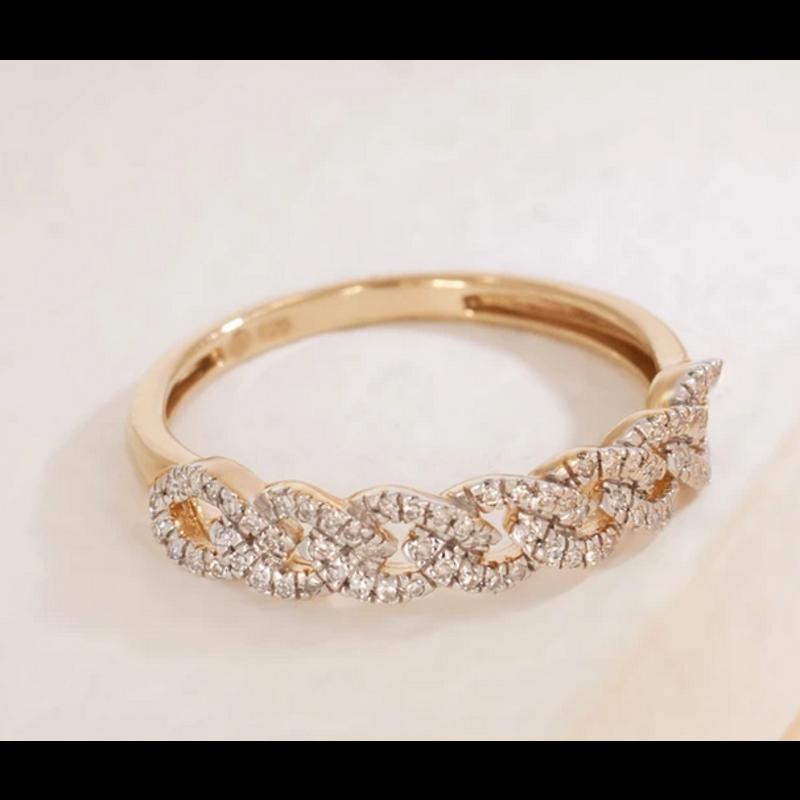 Ella Stein Braids for Days Ring .15 Diamond Weight - Gold - Size 7