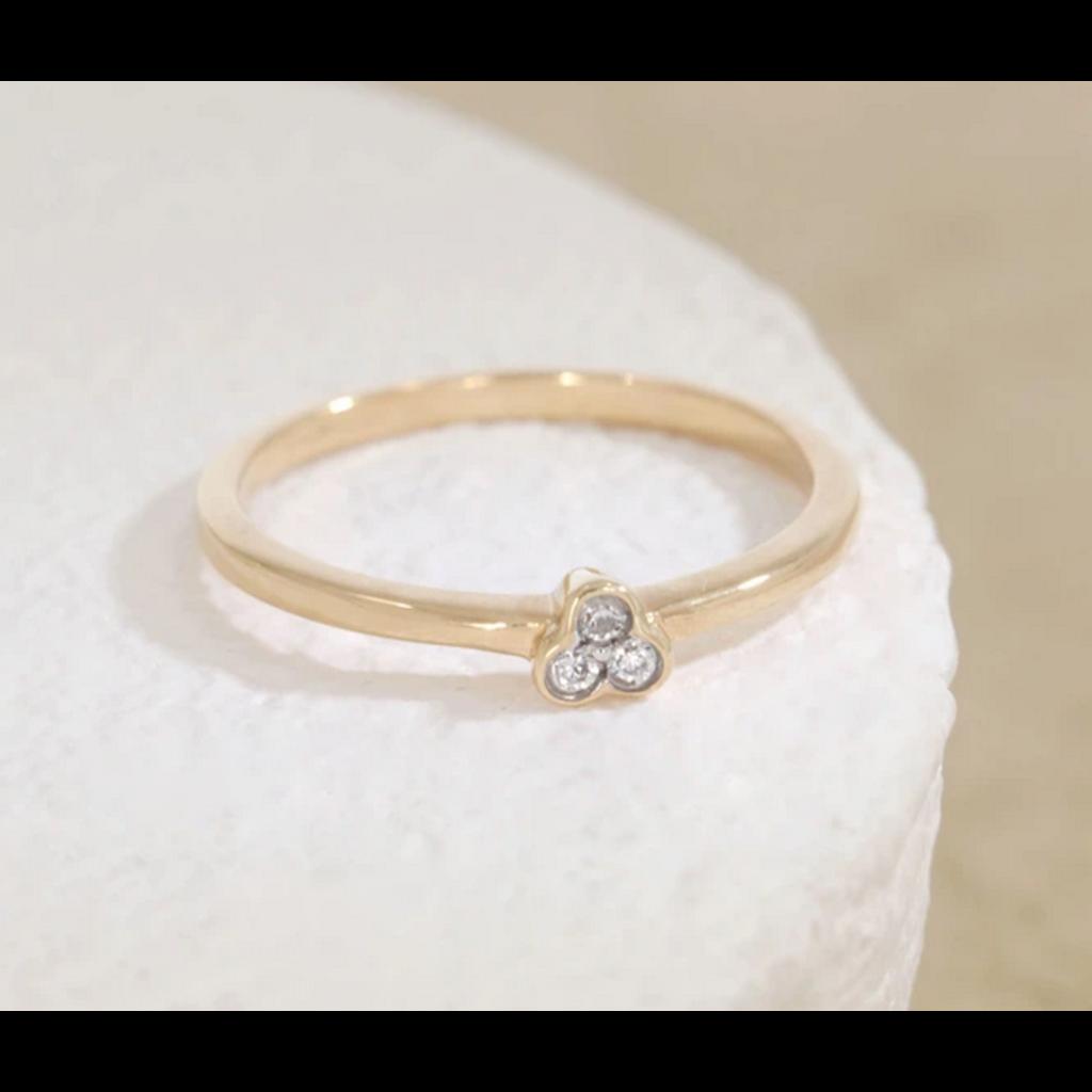 Ella Stein Ella Stein Aba Ring .06 Diamond Weight - Gold - Size 8.5
