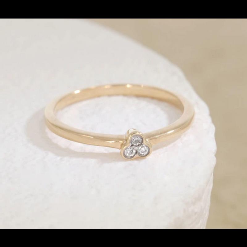 Ella Stein Aba Ring .06 Diamond Weight - Gold - Size 8.5