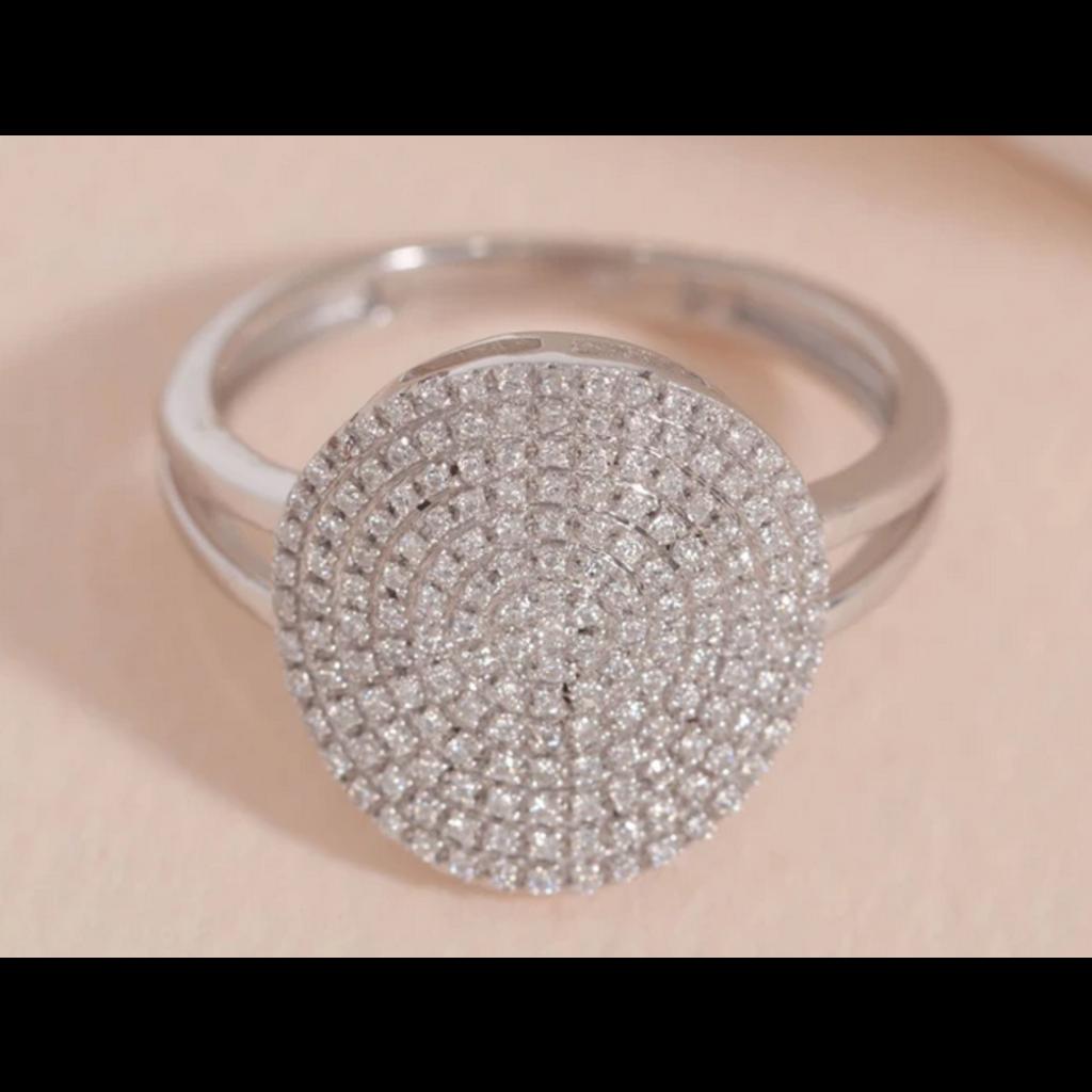 Ella Stein Ella Stein Right Round Ring .24 Ct. Diamond Weight - SS - Size 7