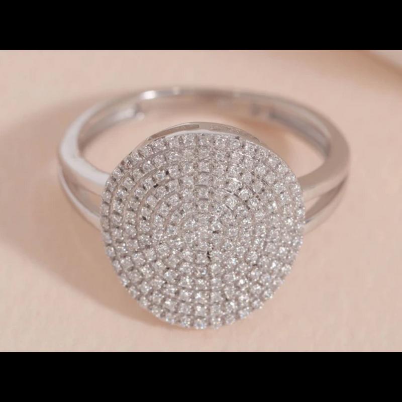 Ella Stein Right Round Ring .24 Ct. Diamond Weight - SS - Size 7