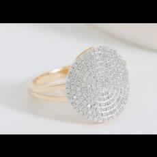 Ella Stein Ella Stein Right Round Ring .24 Ct. Diamond Weight - Gold - Size 8