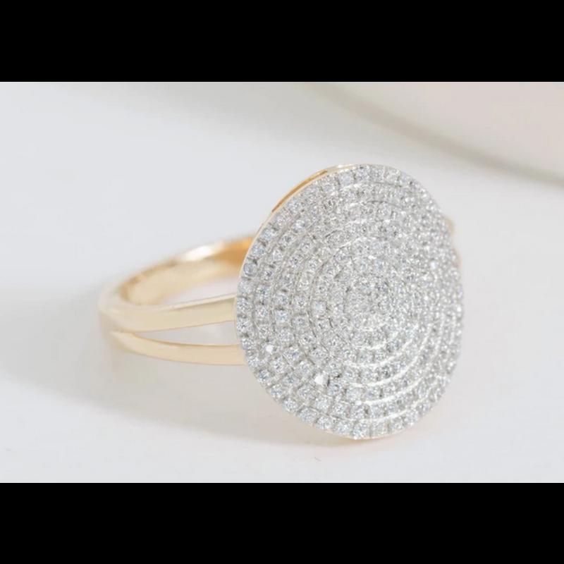 Ella Stein Right Round Ring .24 Ct. Diamond Weight - Gold - Size 8