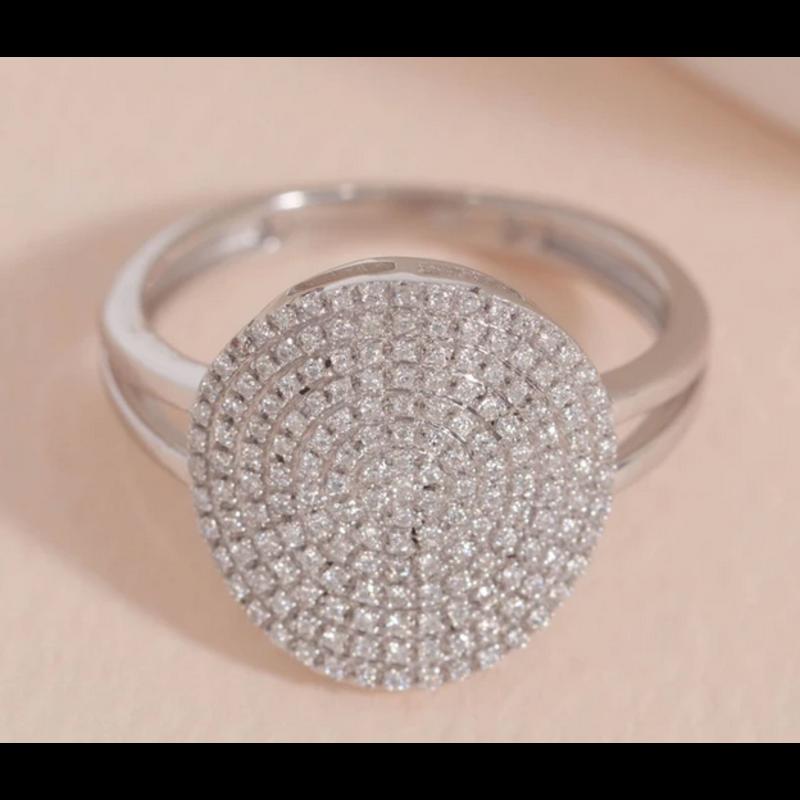 Ella Stein Right Round Ring .24 Ct. Diamond Weight - SS - Size 6