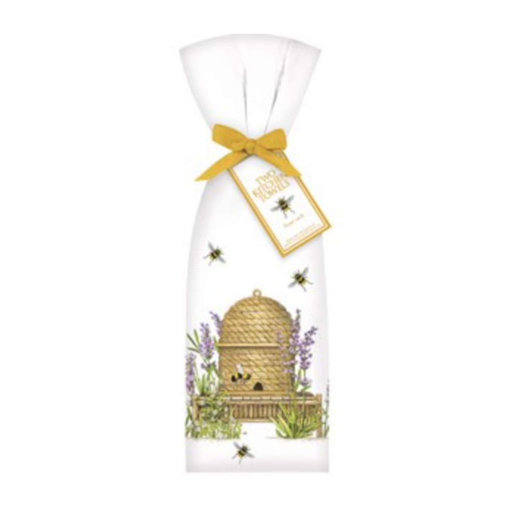 Mary Lake-Thompson Mary Lake-Thompson Lavender Beehive Towel Set