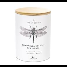 Skeem Skeem Citronella Outdoor Sea Salt Tea Lights - 24 count