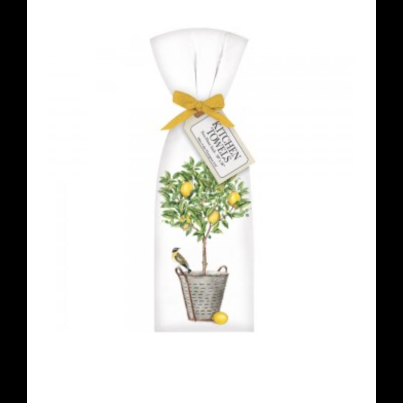 Mary Lake-Thompson Lemon Tree Bucket Towel Set