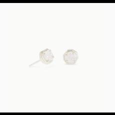 Kendra Scott Kendra Scott  Nola Silver Stud Earring in  Iridescent Drusy