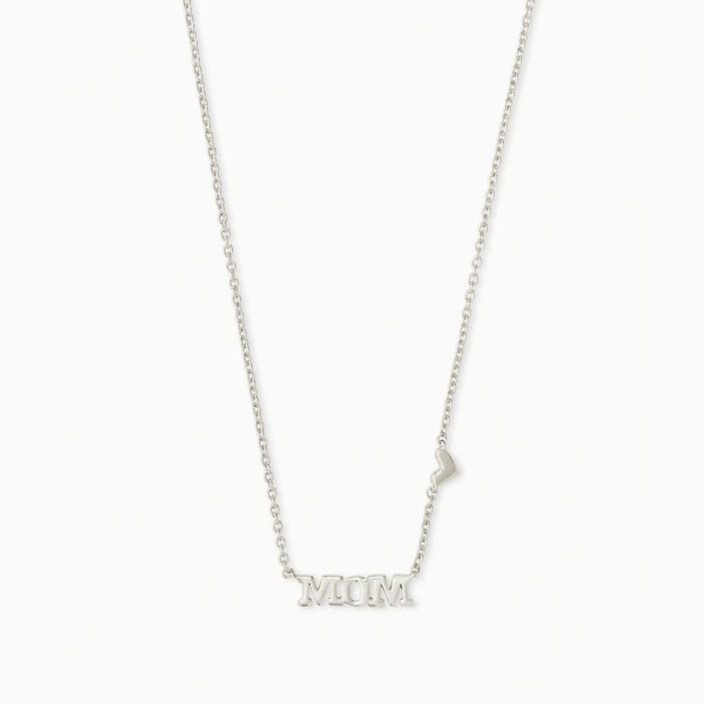 Kendra Scott Kendra Scott  Mom Pendant Necklace in Silver