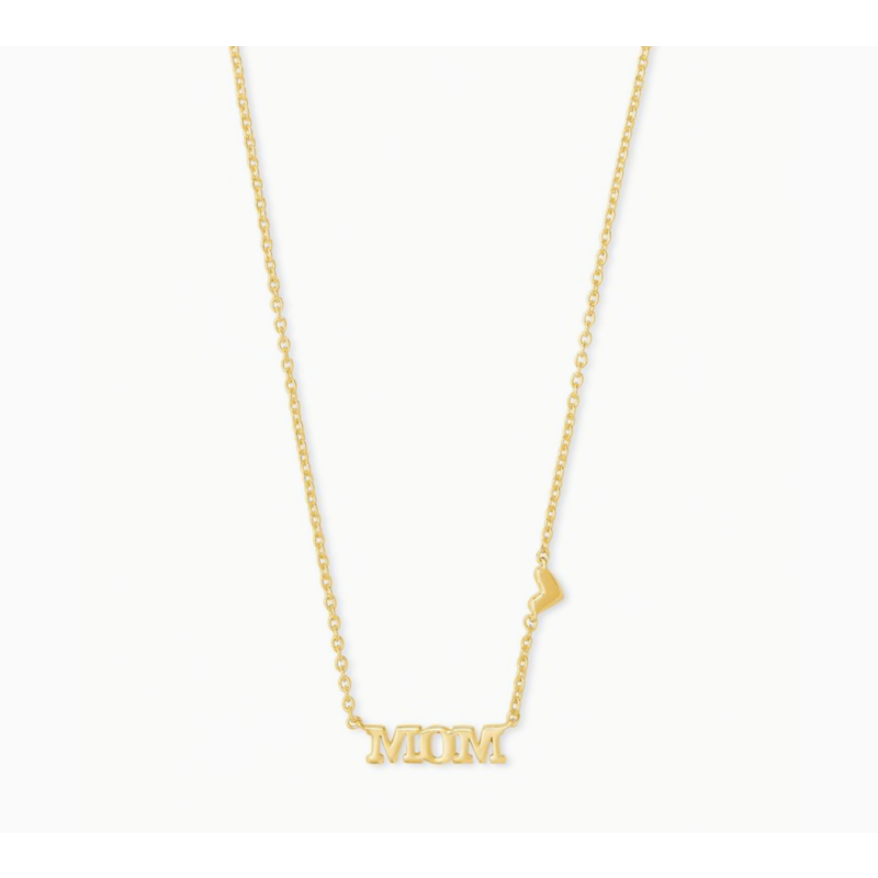 Kendra Scott Mom Pendant Necklace in Gold