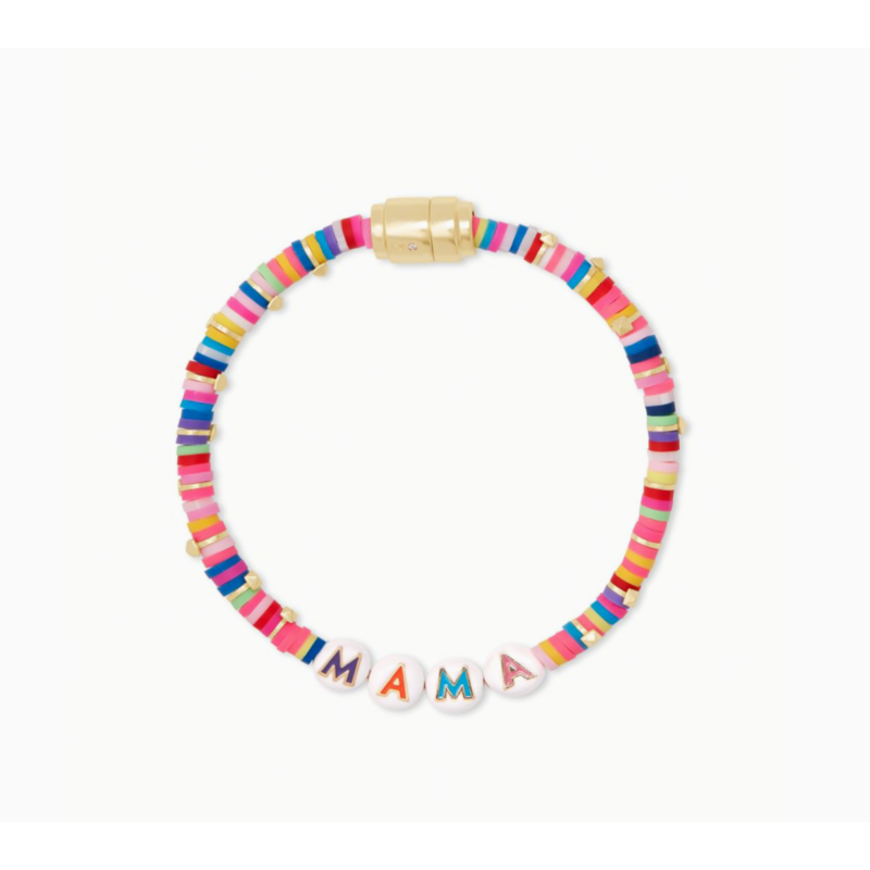 Kendra Scott Reece Mama Friendship in  Bracelet Gold Pink Mix