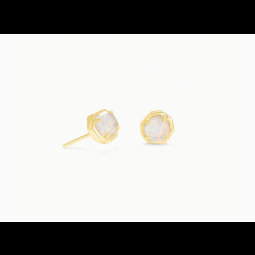 Kendra Scott Kendra Scott Nola Gold  Stud Earring Gold in White Opal Illusion