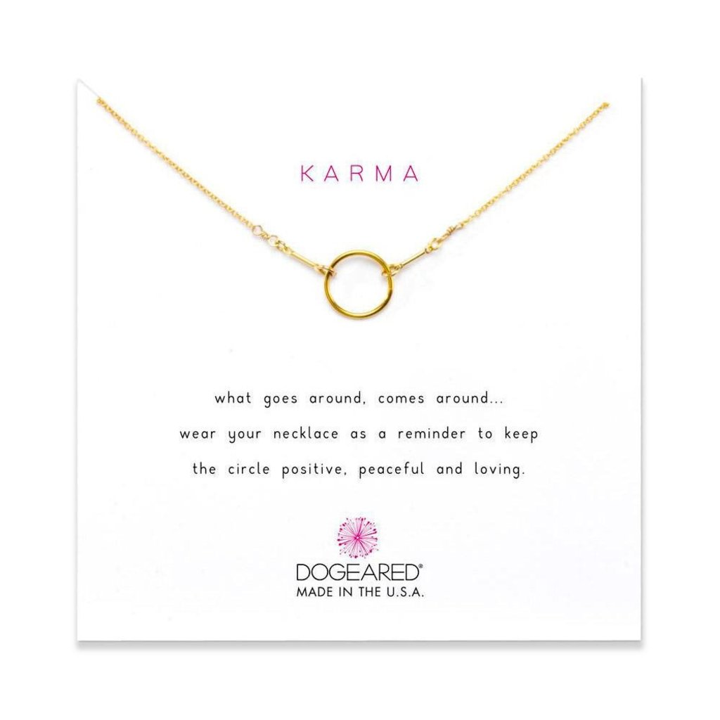 Dogeared Dogeared Original Karma Necklace in Gold Dipped