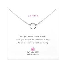 Dogeared Dogeared Original Karma Necklace in Sterling Silver