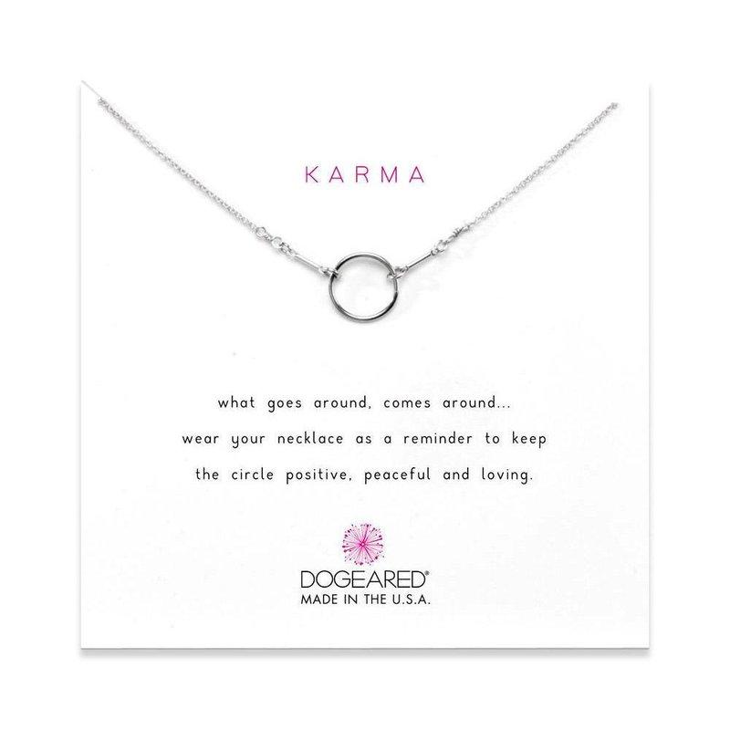 Dogeared Original Karma Necklace in Sterling Silver