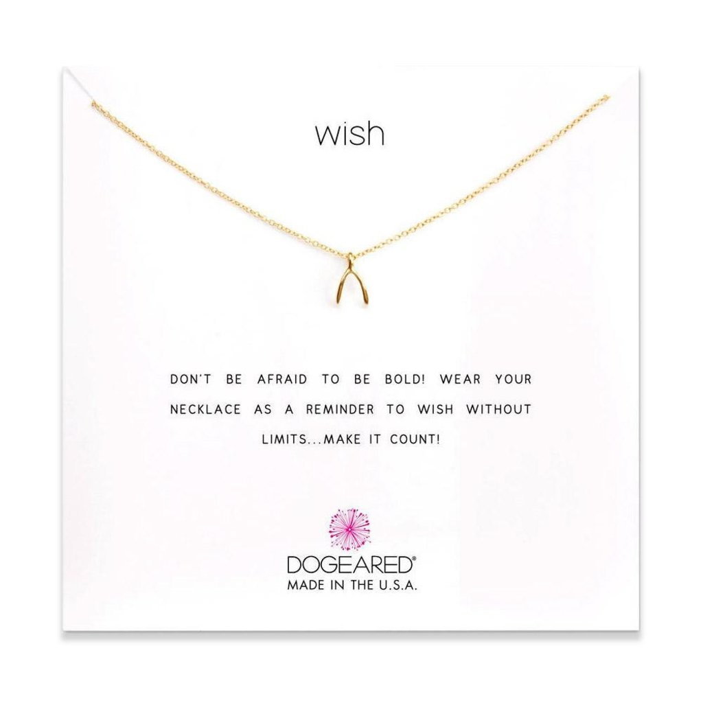Dogeared Dogeared Wish Necklace in Gold Dipped