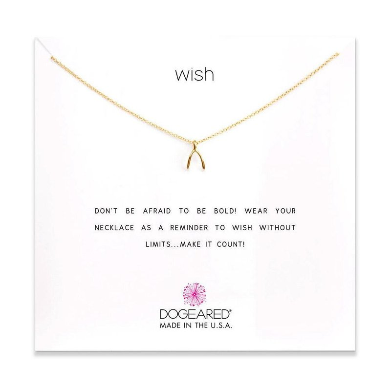 Dogeared Wish Necklace in Gold Dipped