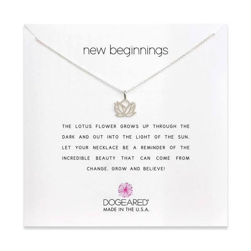 Dogeared New Beginnings Lotus Necklace in Sterling Silver