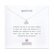 Dogeared Dogeared  Good Luck Elephant Necklace in Sterling Silver